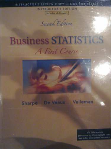 9780321838711: Business Statistics: A First Course, Annotated Instructor's Edition