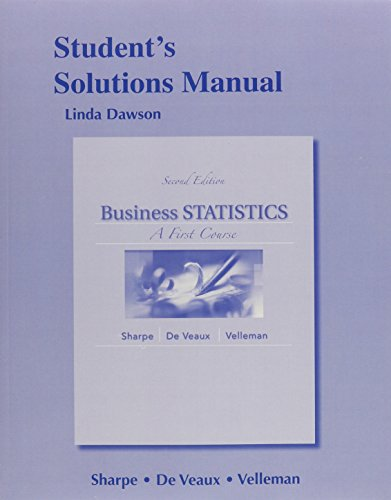 9780321838742: Student's Solutions Manual for Business Statistics: A First Course