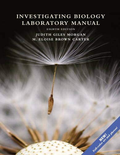 Investigating Biology Laboratory Manual (8th Edition): Reece, Jane B.;
