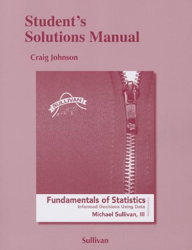 9780321839084: Student's Solutions Manual for Fundamentals of Statistics