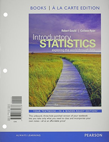 9780321839749: Introductory Statistics: Exploring the World through Data, Books a la Carte Plus MyStatLab -- Access Card Package
