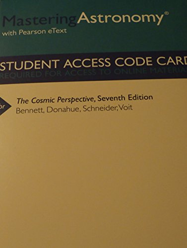 9780321840929: MasteringAstronomy with Pearson eText -- ValuePack Access Card -- for The Cosmic Perspective