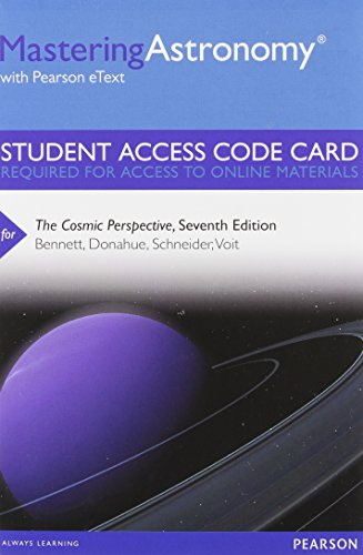 9780321840936: MasteringAstronomy with Pearson eText -- Standalone Access Card -- for The Cosmic Perspective (7th Edition)