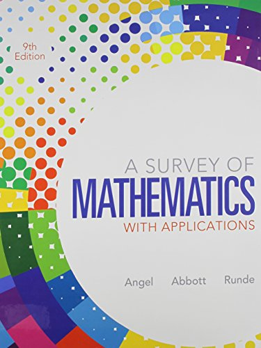 9780321841797: Survey of Mathematics with Applications, MyMathLab, Student Solutions Manual (9th Edition)