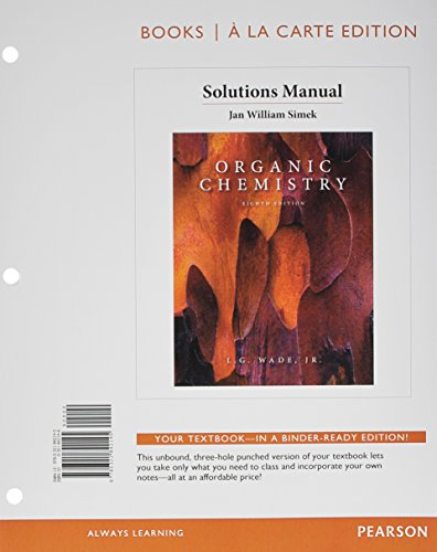9780321842145: Solution Manual for Organic Chemistry, Books a la Carte Edition (8th Edition)