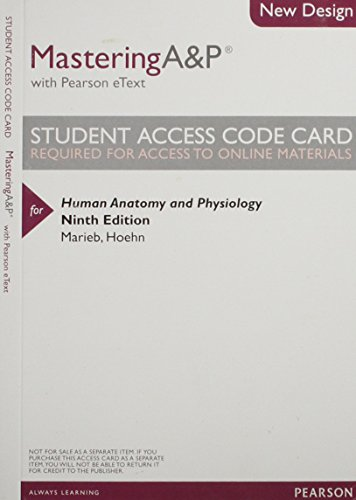 9780321842664: Modified MasteringA&P with Pearson eText -- ValuePack Access Card -- for Human Anatomy & Physiology