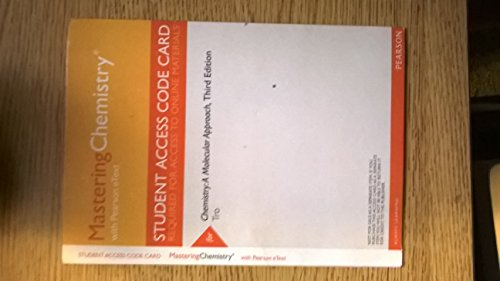 9780321842923: MasteringChemistry with Pearson Etext -- Valuepack Access Card -- for Chemistry: A Molecular Approach