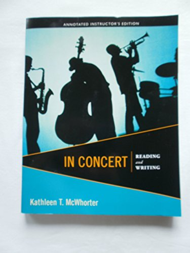 IN CONCERT:READING+WRITING >AN: Kathleen McWhorter
