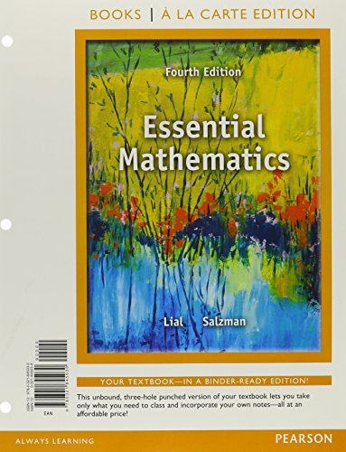 9780321845030: Essential Mathematics, Books a la Carte Edition (4th Edition)