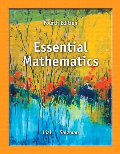 9780321845054: Essential Mathematics (4th Edition)