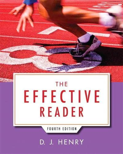 9780321845658: The Effective Reader (4th Edition)