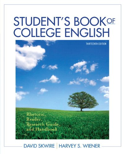 9780321845924: Student's Book of College English: Rhetoric, Reader, Research Guide and Handbook with NEW MyCompLab with eText -- Access Card Package (13th Edition)