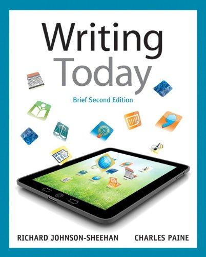 9780321846082: Writing Today, Brief Edition, with NEW MyCompLab with eText -- Access Card Package (2nd Edition)