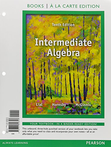 9780321846303: Intermediate Algebra, Books a la Carte Edition (10th Edition)