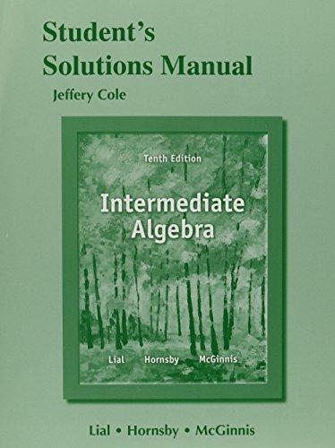 9780321846310: Student Solutions Manual for Intermediate Algebra