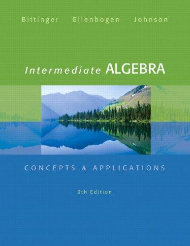 9780321848284: Intermediate Algebra: Concepts & Applications (9th Edition) (Bittinger Concepts & Applications)