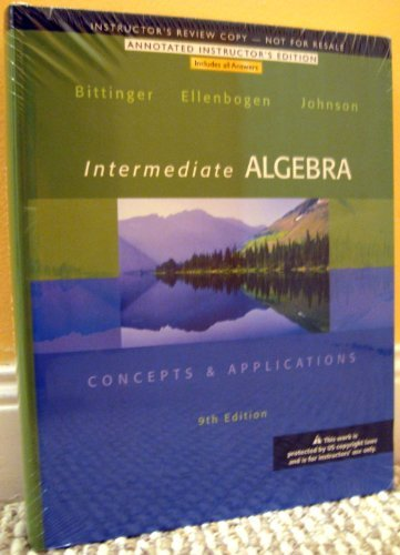 9780321848314: Intermediate Algebra - Concepts & Applications:ANNOTATED INSTRUCTOR'S EDITION