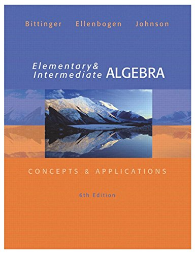 9780321848741: Elementary and Intermediate Algebra: Concepts and Applications (6th Edition)