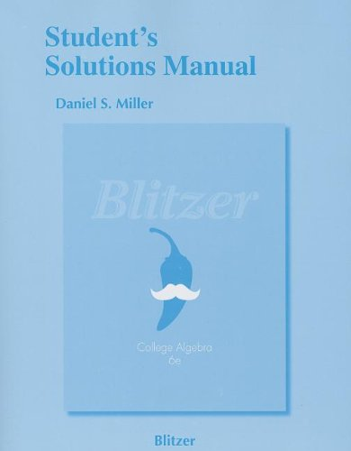 9780321850102: Student's Solutions Manual for College Algebra