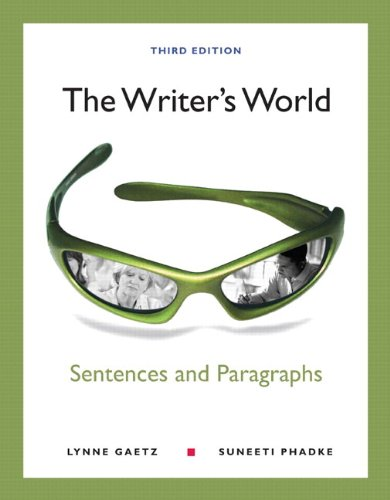 9780321850478: The Writer's World: Sentences and Paragraphs with NEW MyWritingLab with eText -- Access Card Package (3rd Edition)