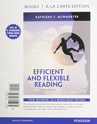 9780321851017: Efficient and Flexible Reading, Books a la Carte Plus NEW MyReadingLab with eText -- Access Card Package (10th Edition)
