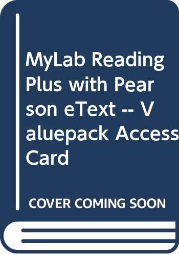 9780321852007: MyReadingLabPlus with Pearson eText -- Valuepack Access Card