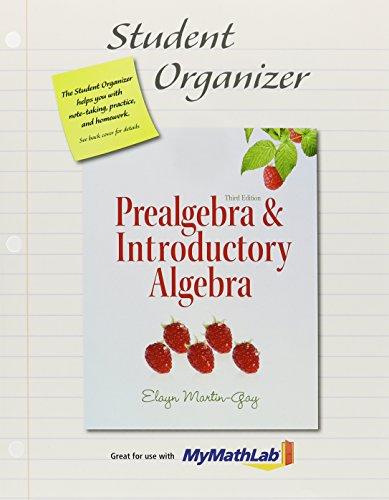 9780321852441: MyLab Math for Prealgebra & Introductory Algebra --Access Card-- Plus Student Organizer (3rd Edition)