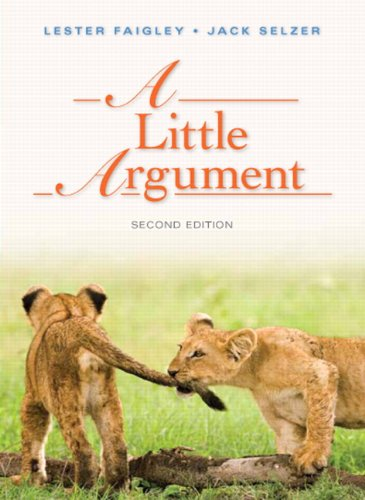 9780321852762: A Little Argument (2nd Edition)
