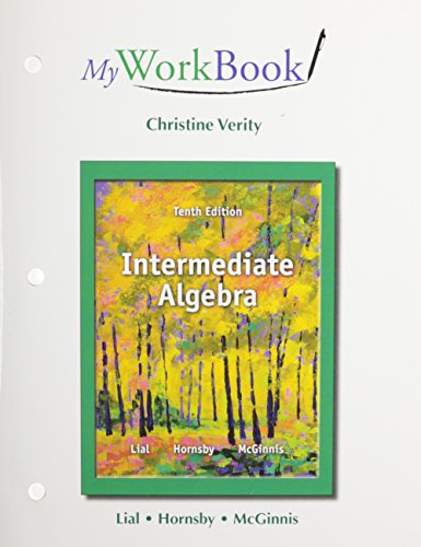 9780321854797: MyWorkBook for Intermediate Algebra