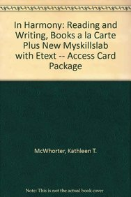 9780321854865: In Harmony: Reading and Writing, Books a la Carte Plus NEW MySkillsLab with eText -- Access Card Package