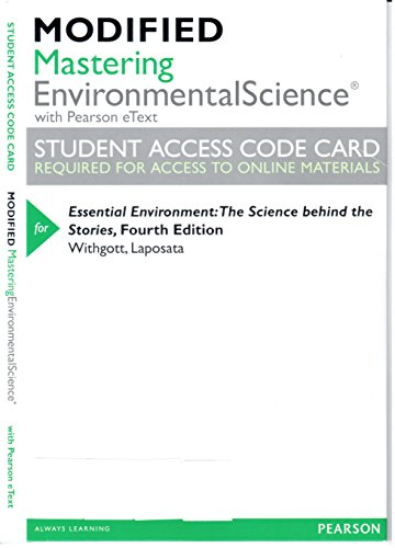 9780321856302: Modified MasteringEnvironmentalScience with Pearson eText -- ValuePack Access Card -- for Essential Environment: The Science behind the Stories