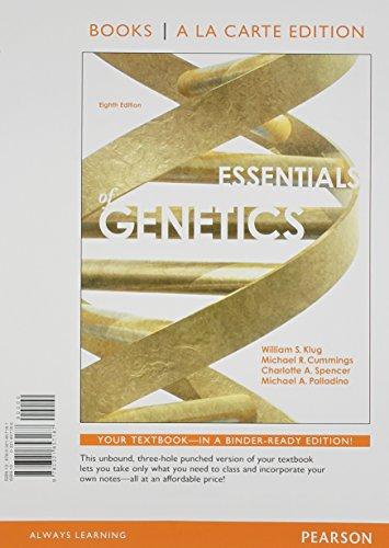 9780321857187: Essentials of Genetics, Books a la Carte Edition (8th Edition)