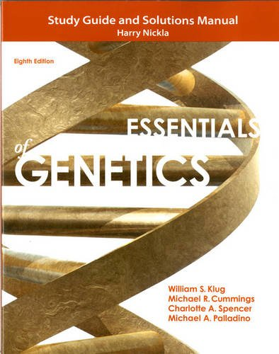 9780321857217: Study Guide and Solutions Manual for Essentials of Genetics