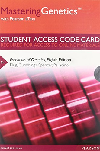 9780321857859: MasteringGenetics with Pearson eText -- Standalone Access Card -- for Essentials of Genetics (Mastering Genetics (Access Codes))