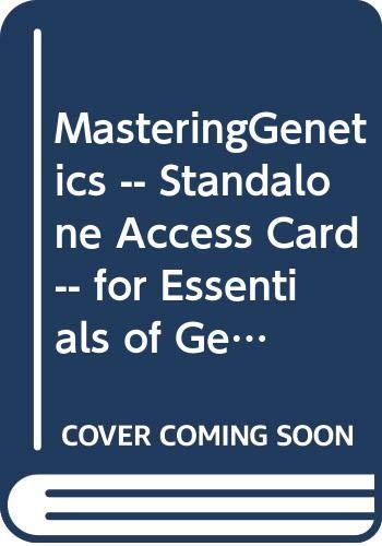 9780321858368: MasteringGenetics -- Standalone Access Card -- for Essentials of Genetics