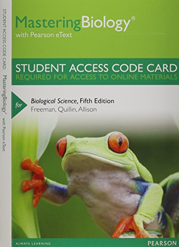 9780321858931: MasteringBiology with Pearson eText -- Standalone Access Card -- for Biological Science (5th Edition)
