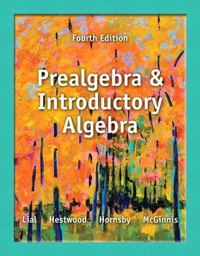 9780321859228: Prealgebra and Introductory Algebra (4th Edition)