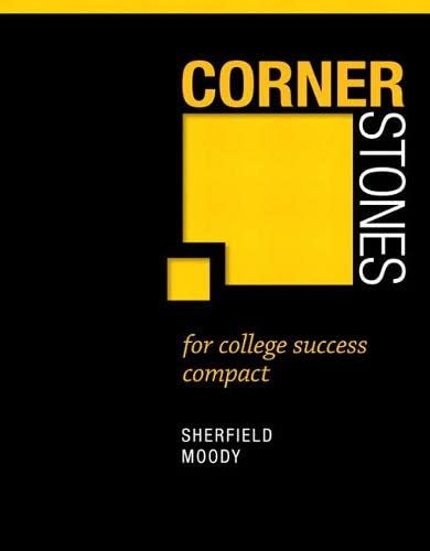 9780321860354: Cornerstones for College Success Compact