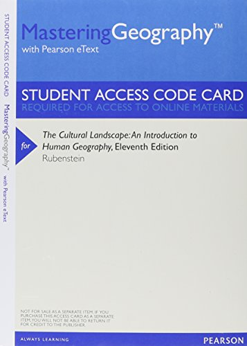 9780321861054: Mastering Geography with Pearson eText -- ValuePack Access Card -- for The Cultural Landscape: An Introduction to Human Geography (11th Edition)