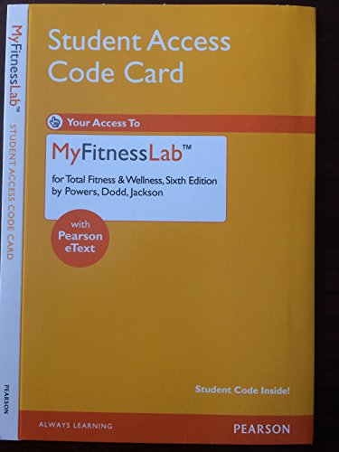 9780321863737: MyFitnessLab with Pearson eText -- Standalone Access Card -- for Total Fitness &Wellness (6th Edition)