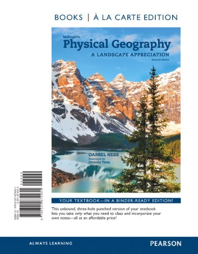 9780321864031: McKnight's Physical Geography: A Landscape Appreciation, Books a la Carte Plus MasteringGeography with eText -- Access Card Package (11th Edition)