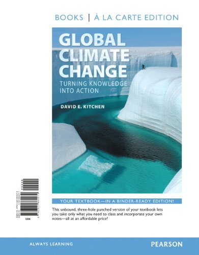 Global Climate Change: Turning Knowledge Into Action,: Kitchen, David
