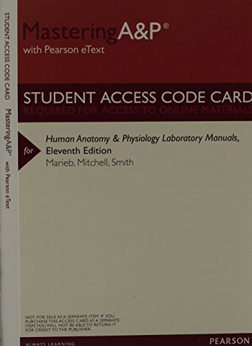 9780321864833: MasteringA&P with Pearson Etext -- Valuepack Access Card -- for Human Anatomy & Physiology Laboratory Manuals