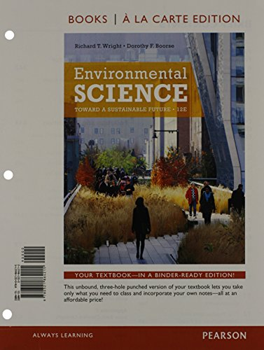 9780321864857: Environmental Science: Toward a Sustainable Future, Books a la Carte Plus MasteringEnvironmentalScience with eText -- Access Card Package (12th Edition)