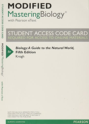 9780321865182: New MasteringBiology with Pearson Etext -- Valuepack Access Card -- for Biology: A Guide to the Natural World