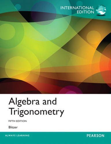 9780321866943: Algebra and Trigonometry