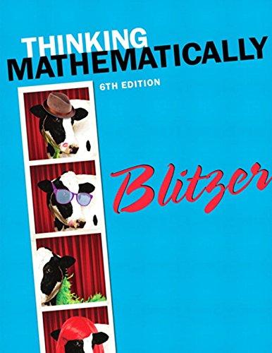 Thinking Mathematically (6th Edition): Blitzer, Robert F.
