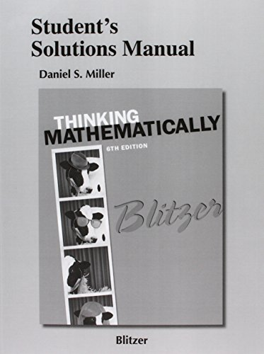 9780321867339: Student's Solutions Manual for Thinking Mathematically