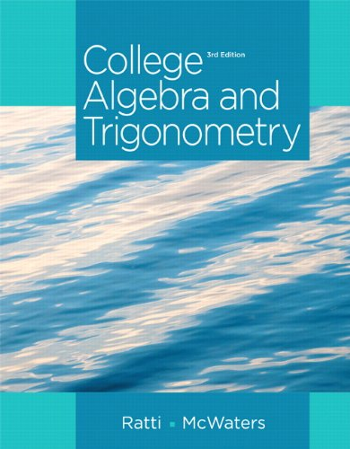 9780321867414: College Algebra and Trigonometry Plus NEW MyMathLab with Pearson eText -- Access Card Package (3rd Edition) (Ratti/McWaters Series)