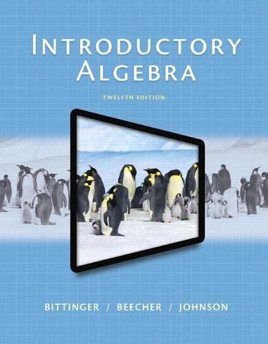 9780321867964: Introductory Algebra (12th Edition)